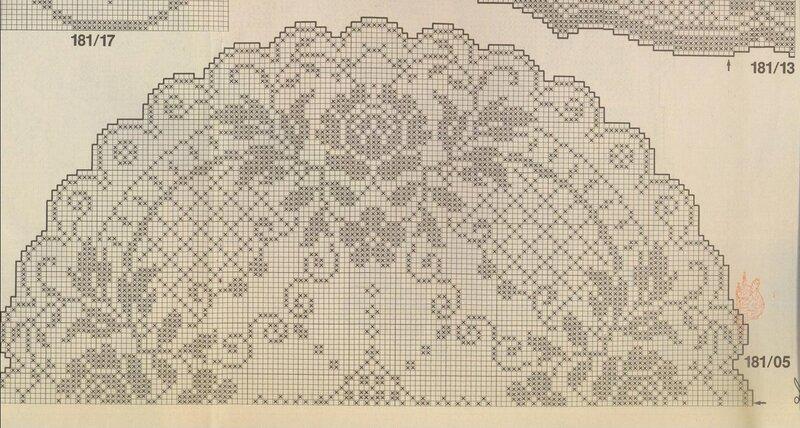 Филейное вязание скатертей 39