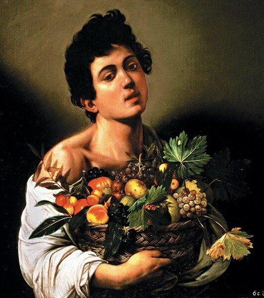 """Караваджо """"Мальчик с корзиной фруктов"""""""