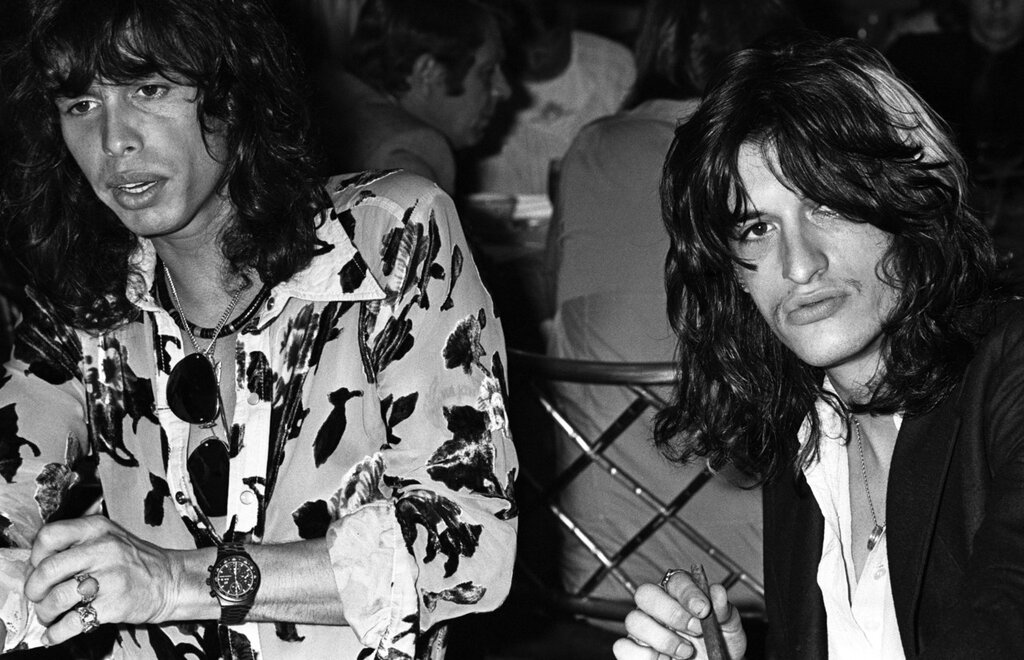 Steve Tyler and Joe Perry of Aerosmith by Brad Elterman,1978