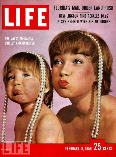 Life Magazine, February 9, 1959 - Shirley MacLaine and daughter