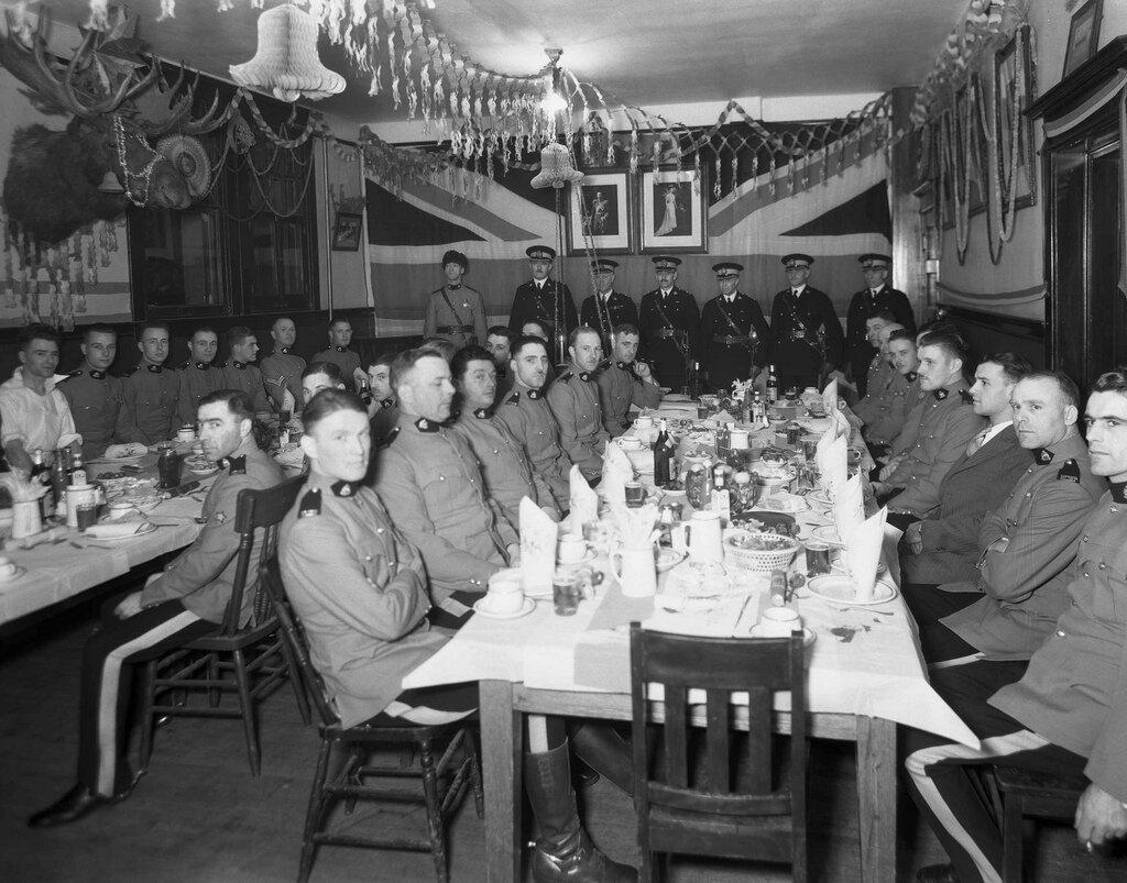 Royal Canadian Mounted Police, Christmas banquet, Alberta 1933