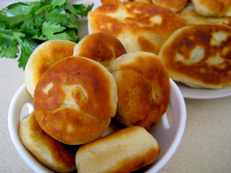 Пирожки на кефире с тунцом и картошкой