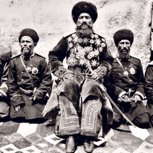 Бухарский эмир со свитой (фрагмент)