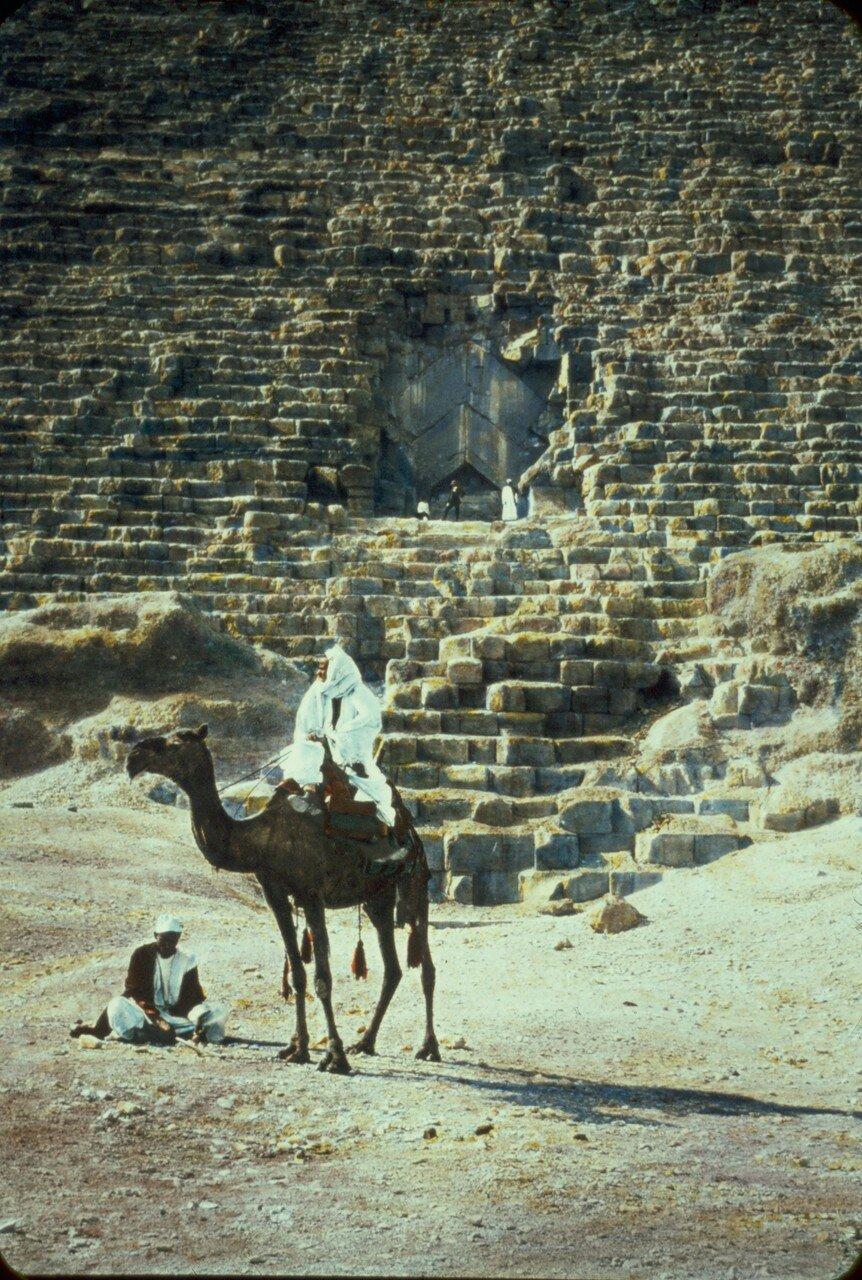 Гиза. Вход в Великую Пирамиду Хеопса. 1950