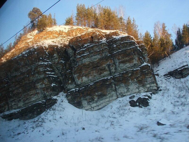 Южный Урал. Фото из окна поезда.