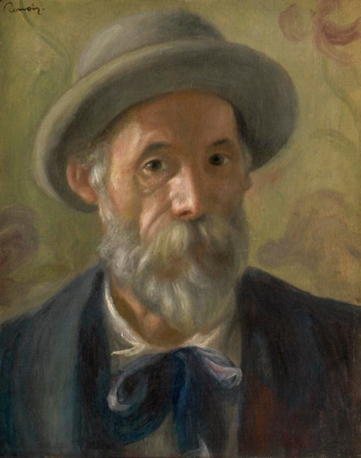 Ренуар, Пьер Огюст Автопортрет ок. 1897 г., в институте искусства Кларка.