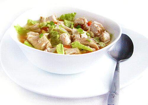 Суп курино-овощной по Дюкану