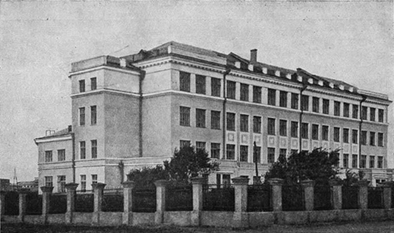 Школа на улице Горького в Тракторозаводском районе. 1936 г.