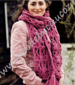 Вязание крючком шарф из толстой пряжи 74