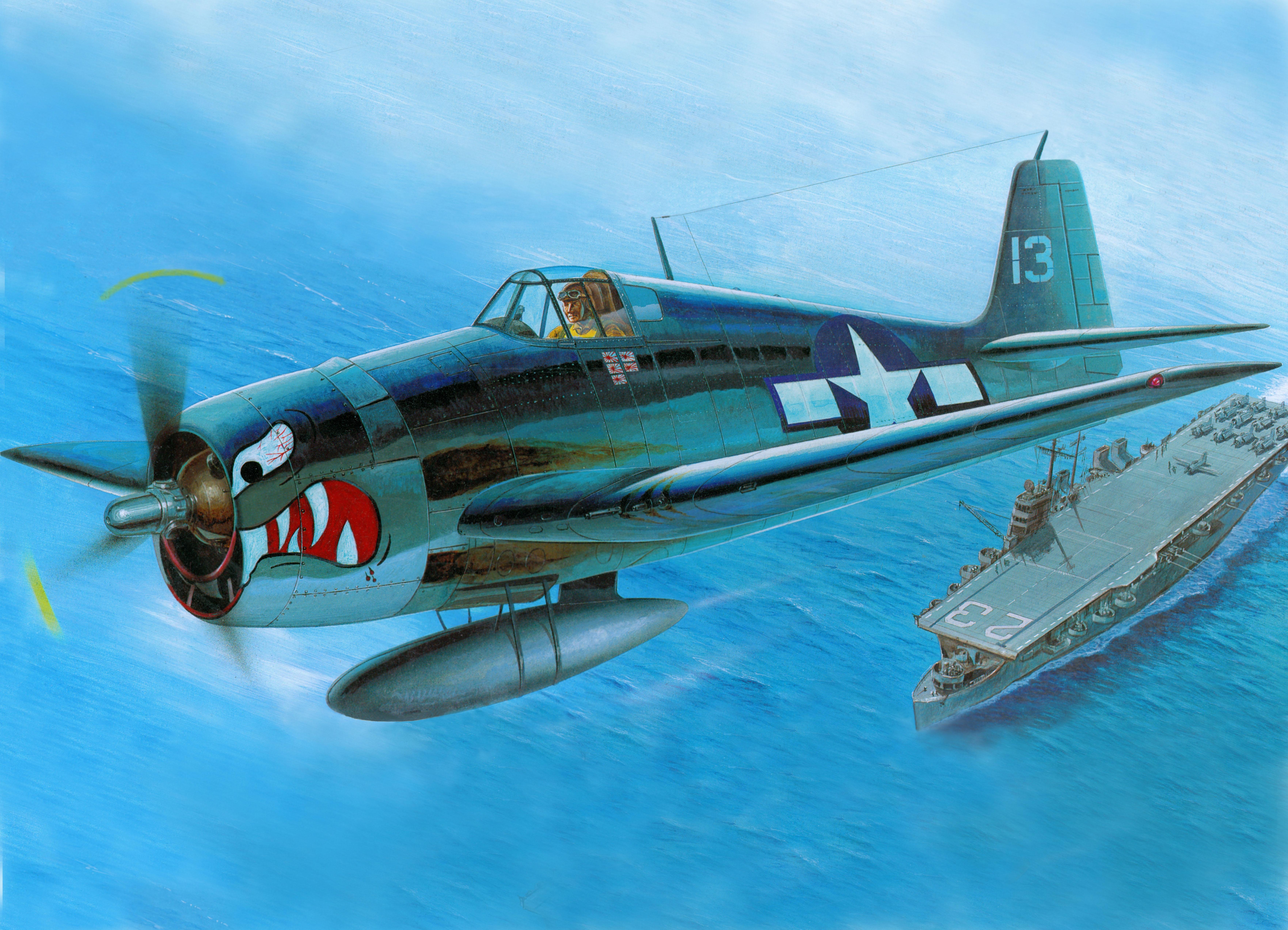рисунок F6F Hellcat USS Princeton