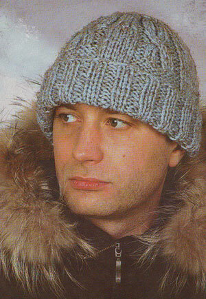 Вязанные мужские шапочки фото схема.