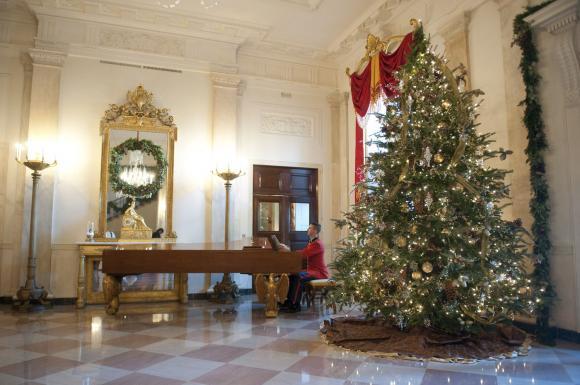 White House - новогодний декор Белого дома