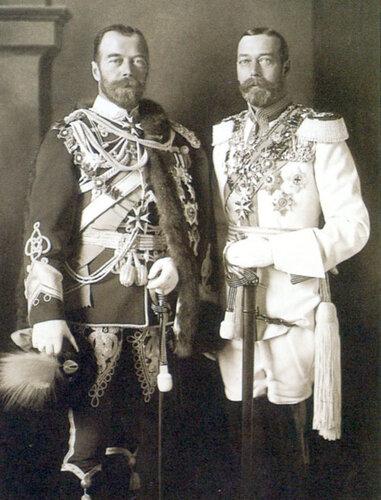 Николай II и его кузен Георг V.