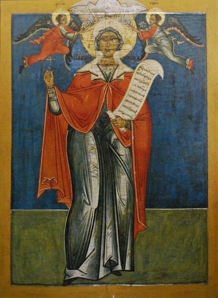 """Параскева Пятница"", ХVII век, икона из часовни д. Мазы"