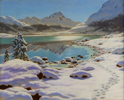 Зимнее утро в Энгадине.