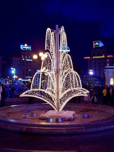 Киев | Световой фонтан на Майдане Незалежности