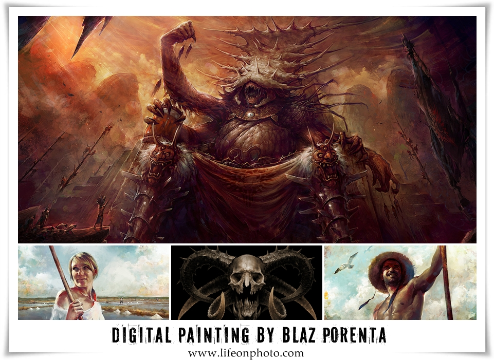 Digital painting by Bla? Porenta