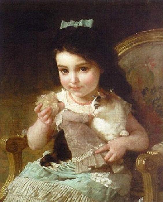 Куклы в картинах Эмиля Мунье