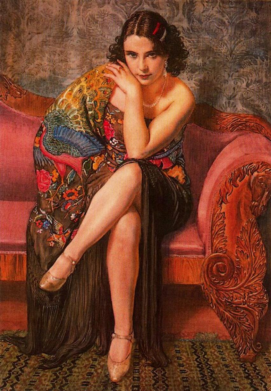 George Owen Wynne Apperley : Peacock Shawl 1927