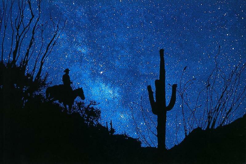 Richard Prince, Silhouette Cowboy, 1998
