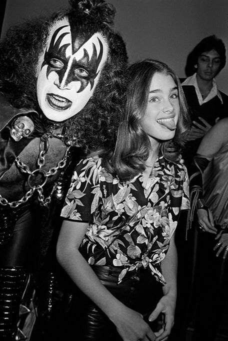 1979 - Brooke Shields with Gene Simmons by Brad Elterman