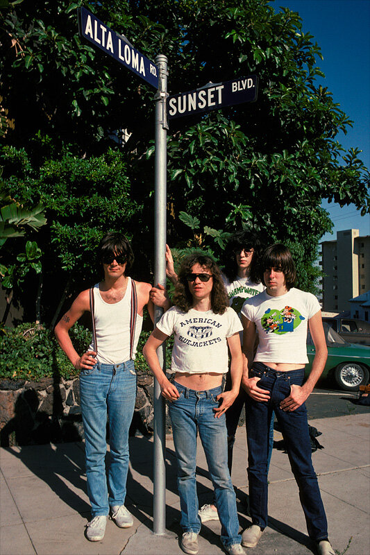 The Ramones on the Sunset Strip in 1977