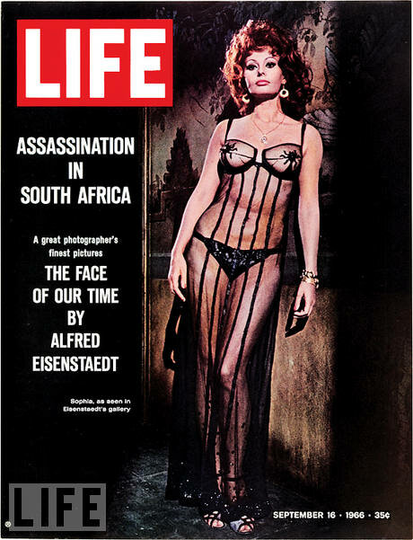 Sophia Loren in one of the most contested covers of Life - September 16, 1966