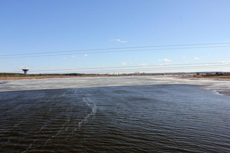 Река Жабня, вид с ЖД-моста