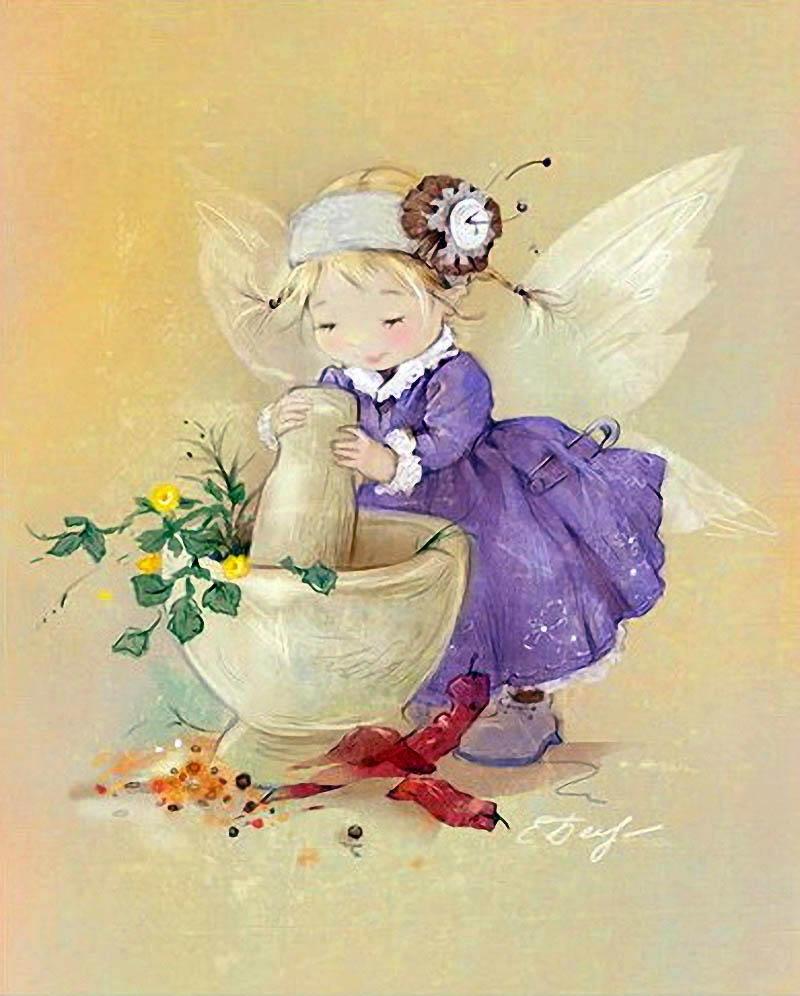 игрушки любят картинки акварелью о феях страшного