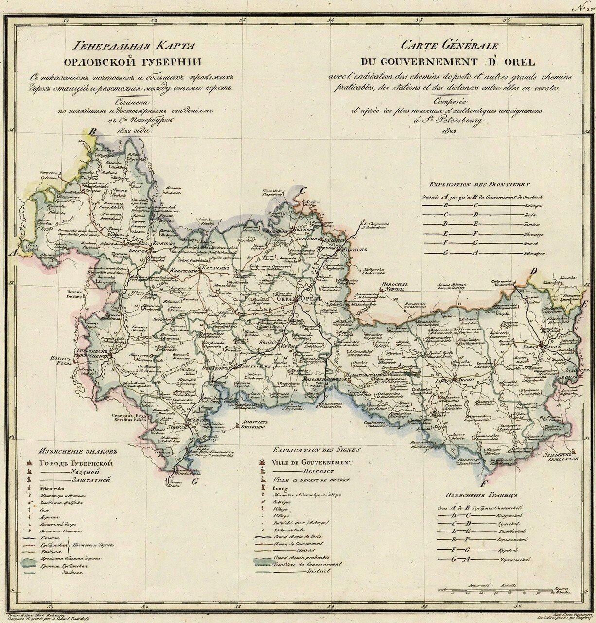 27. Орловская губерния. 1822