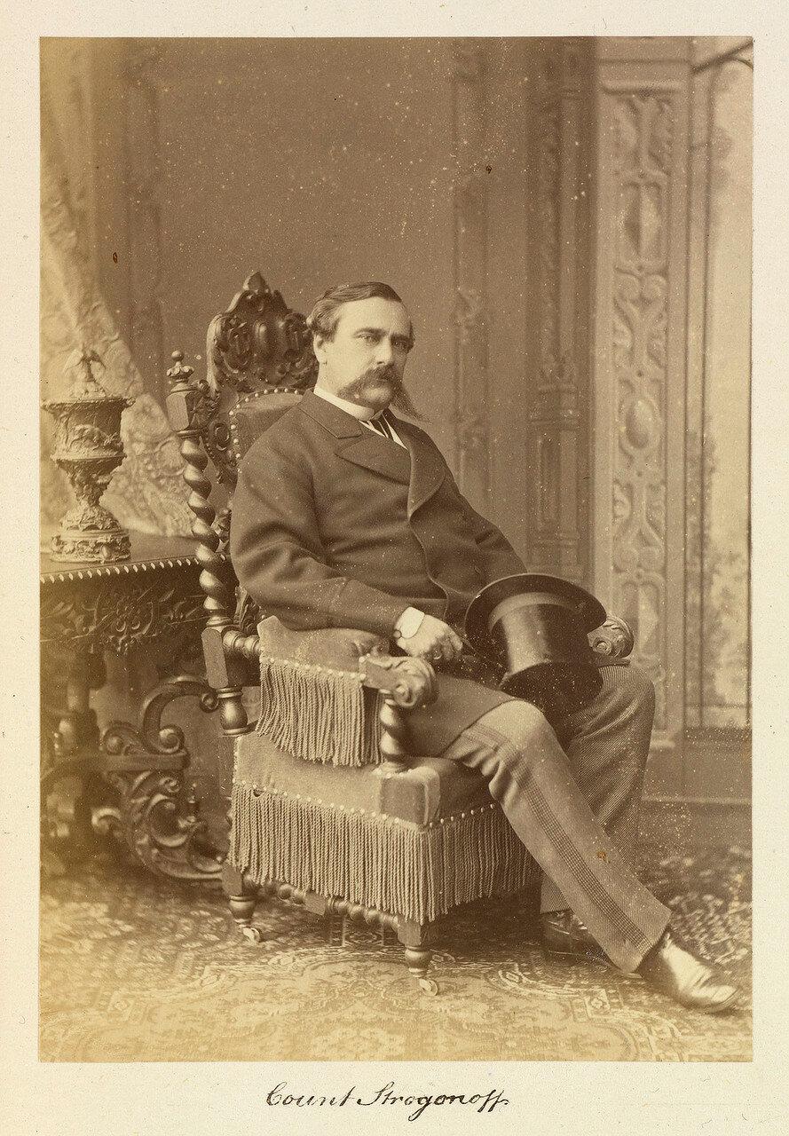 Граф Александр Григорьевич Строганов (31 декабря 1795 — 2 августа 1891) — товарищ министра внутренних дел, затем управляющий Министерством внутренних дел, генерал-адъютант (1834), генерал от артиллерии (1856), член Государственного совета.