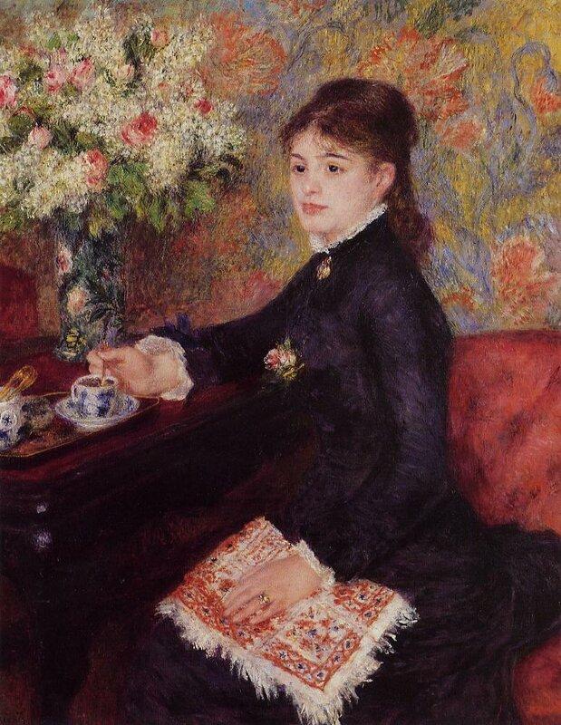 Пьер Огюст Ренуар (Pierre Auguste Renoir, 1841 - 1919) — Чашка шоколада, 1878.
