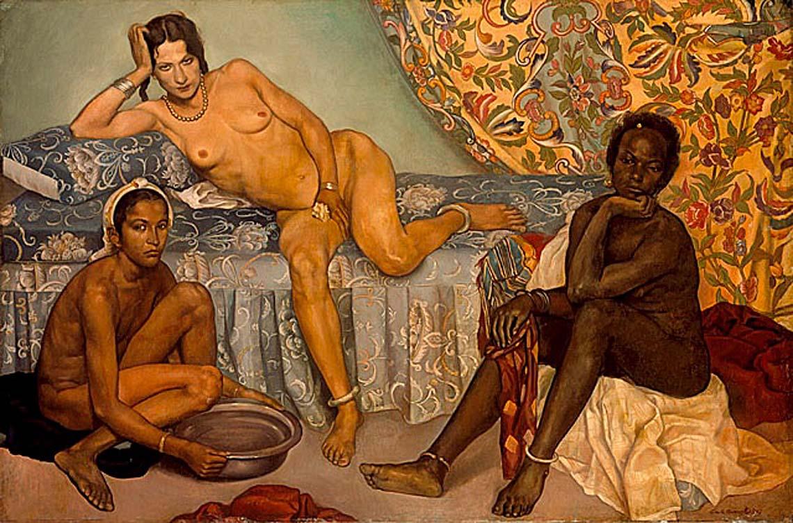 Tres razas, 1898, Три расы. Émile Bernard (1868-1941) Бернар Эмиль., НЮ, Франция
