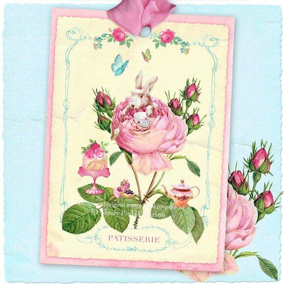 Мопсы, французские открытки с праздником