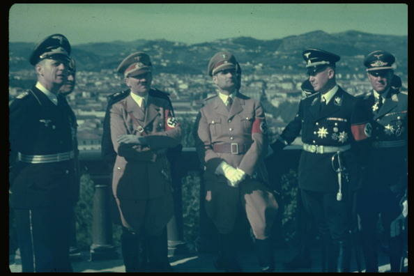 Rudolf Hess;Joachim Von Ribbentrop;Benito Mussolini;Adolf Hitler