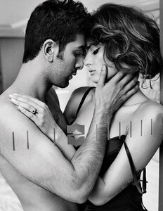 Isabeli Fontana and Ranbir Kapoor by Marc Hom / Изабели Фонтана и Ранбир Капур в журнале Vogue Индия, октябрь 2011