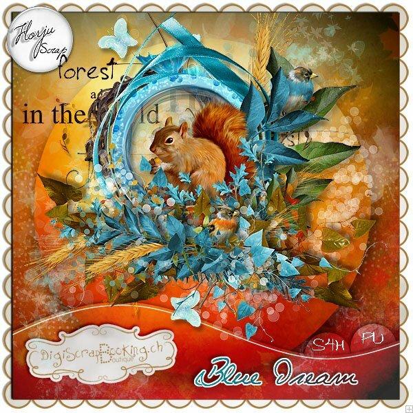 Скрап-набор Blue dream