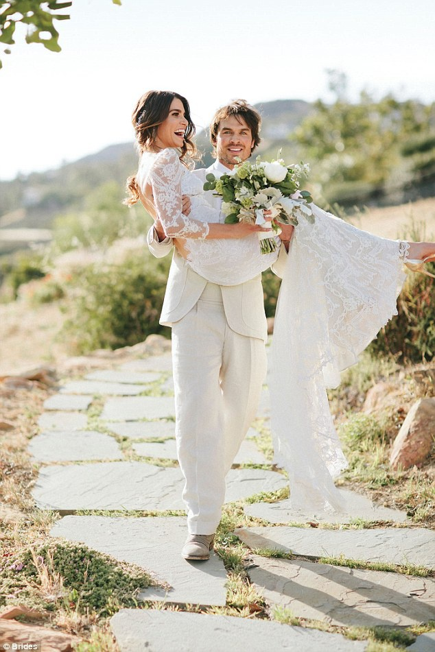 Йен Сомерхолдер и Ники Рид свадьба фото