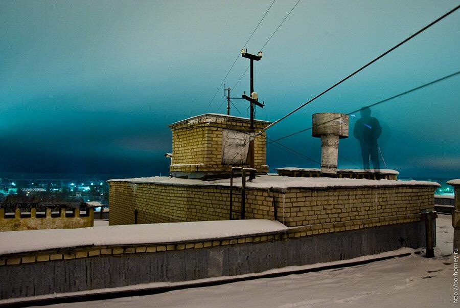 призрак на крыше