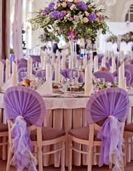 Тканевая драпировка стульев на свадьбу