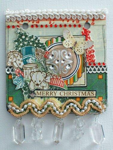 Рождественский шар с мини-альбомом от Emma Trout's