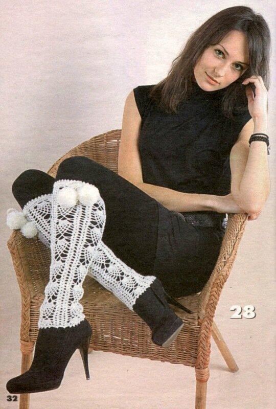 Совет.  Гетры можно носить по-разному: с юбкой и с брюками, с высокими сапогами или полусапожками...