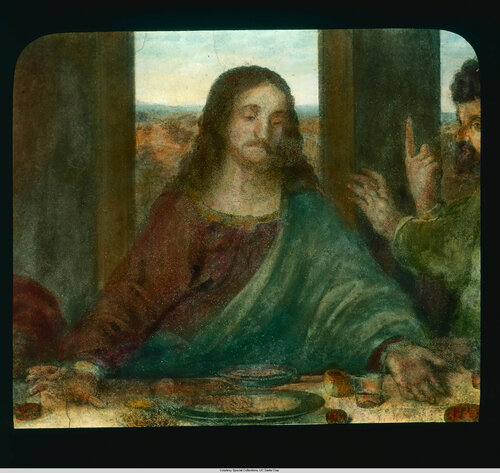 Milan. Santa Maria delle Grazie: interior detail, Leondardo's