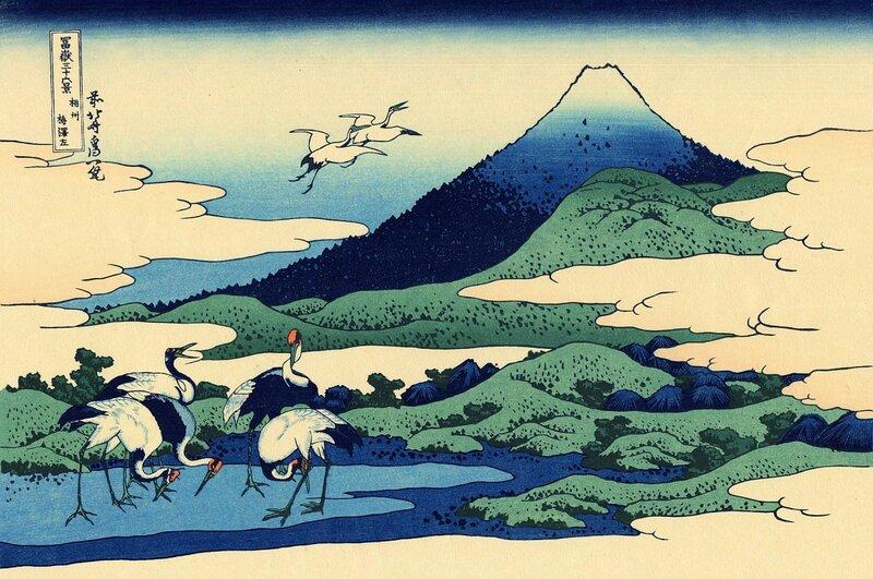 аисты, япония