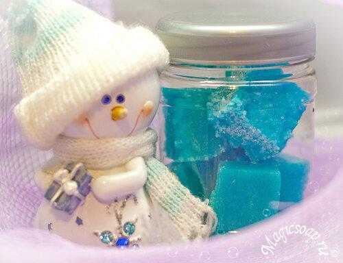 """Быстрый новогодний подарок: сахарный скраб """"Льдинка"""""""