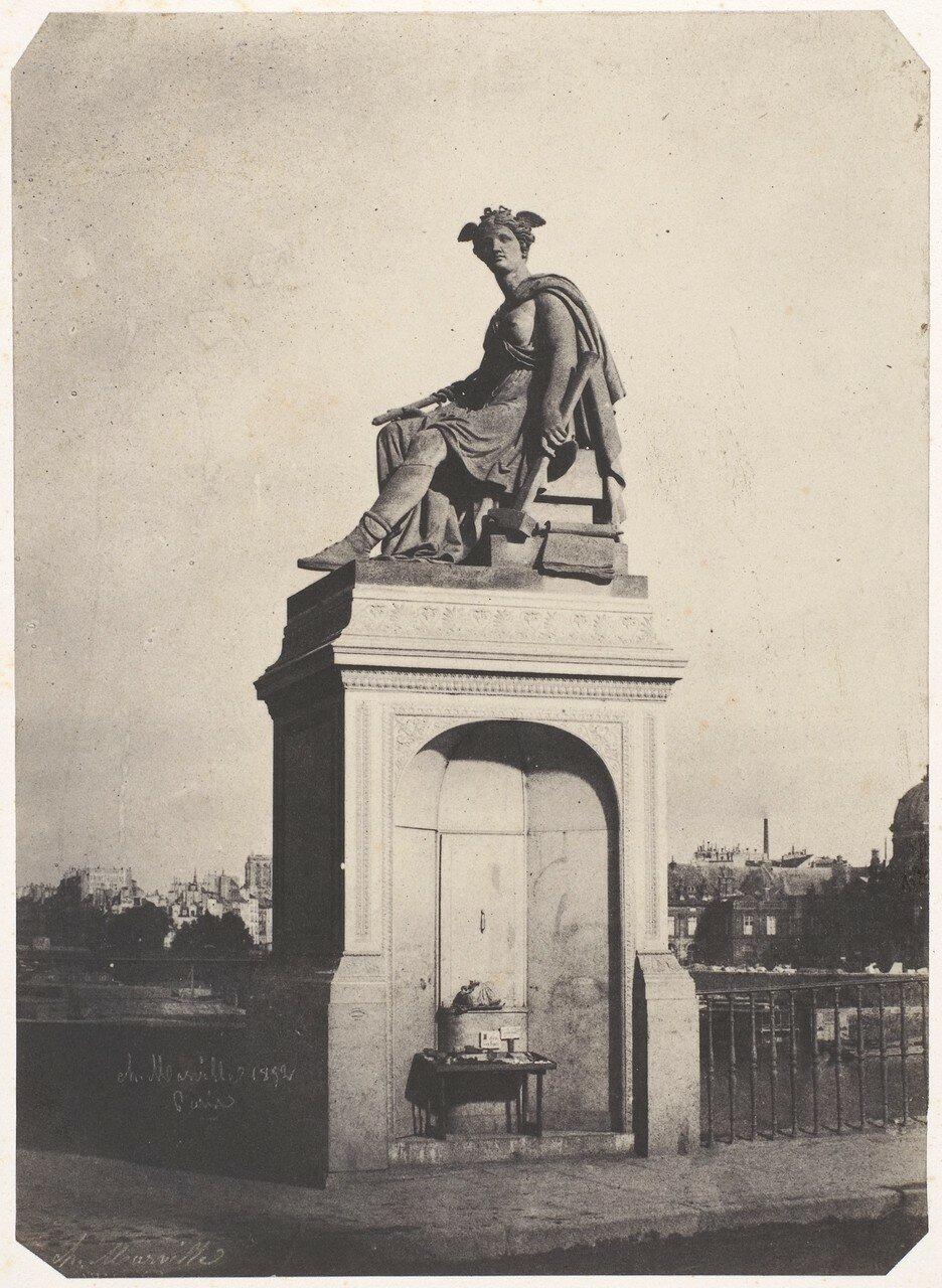 1852. Аллегорические скульптуры промышленности на  Пон-дю-Карусель