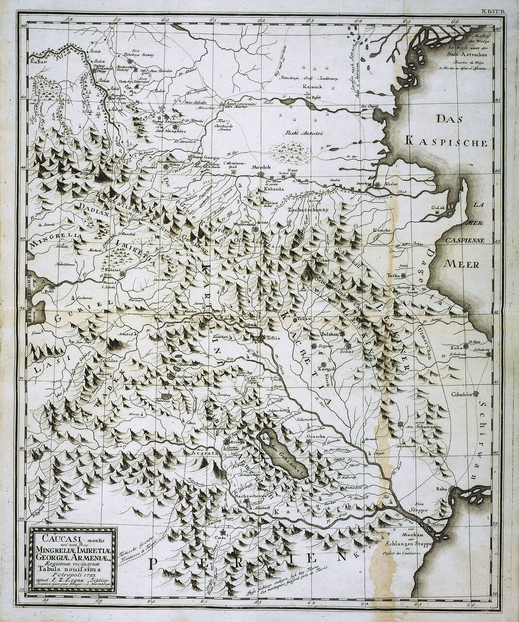 1793. Горные провинции Кавказа. Мингрелия, Грузия, Армения, Имеретия
