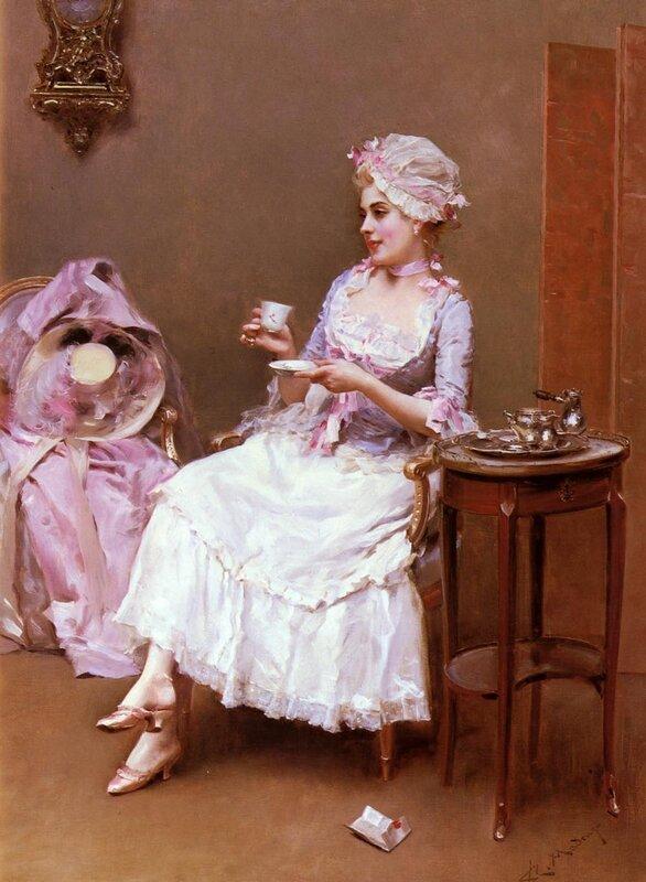 Раймундо де Мадразо и Гаррета (Raimundo de Madrazo y Garreta, 1841 - 1920) — Горячий шоколад.