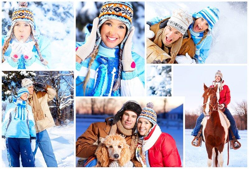 зима и люди