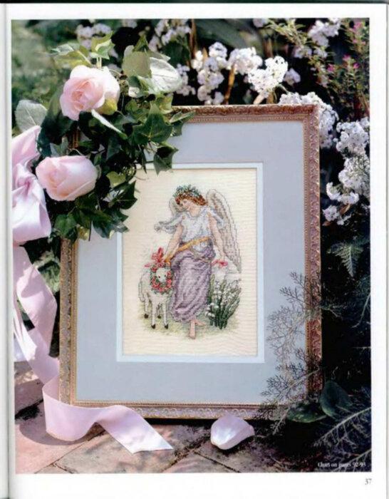 Часть 1. Часть 2. Икона Божией матери.  Ангел с ягненком.  Часть 41 - Религия.Вышивка крестом.